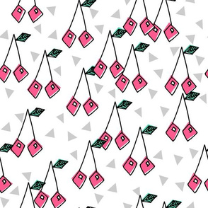 Cherry - Pink/ White Background by Andrea Lauren