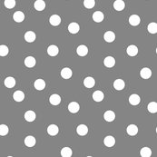 Polka Dot - Medium Grey by Andrea Lauren