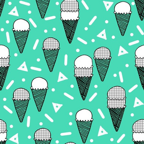 ice cream // icecream ice cream cones memphis summer tropical sweet kids summer print