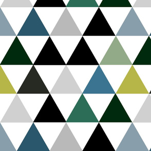 Hamptons Triangles - Olive Cheater Quilt