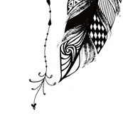 Feather 1 - inuk Design by Ivalu Stender