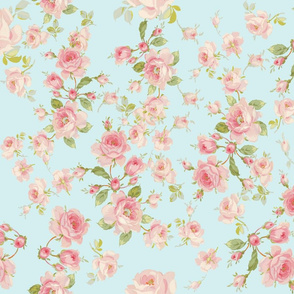 Saint Colette June Roses in aqua