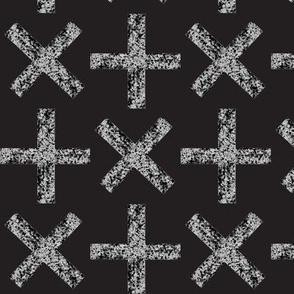 stone crosses black