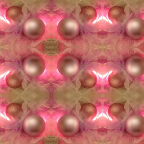 Pastel pink feathers and pink ornaments