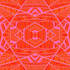 More Orange Than Pink Geo Pattern 2.0