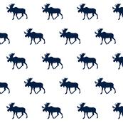 Moose// Navy on White