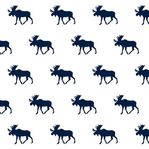 Moose// Navy on White