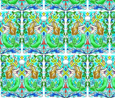watercolor mermaid tile