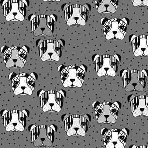 dogs and dots grey