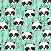 Panda - Pistachio (Smaller Version) by Andrea Lauren