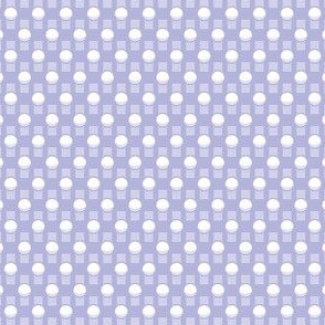 Flashbulbs - lavender & white