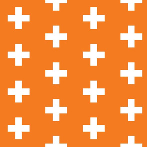 Orange Crosses - Orange Plus Signs