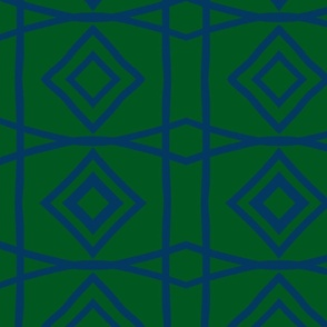 Diamonds- navy dark green