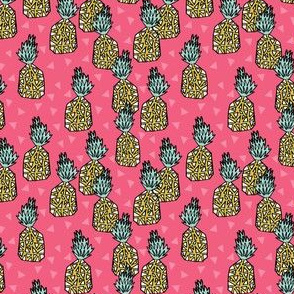 pineapple // small pink pineapple sweet kids summer tropical fruits
