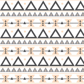 Tribal in Blush and Grey - Triangles