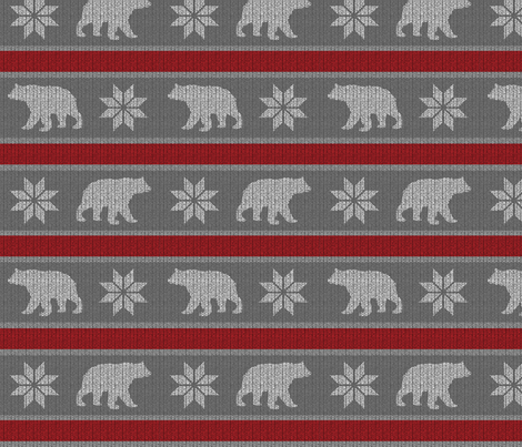 Bear Sweater - cranberry