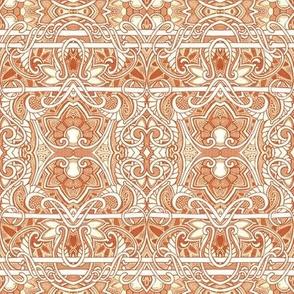 Rusty Orange horizontal stripe