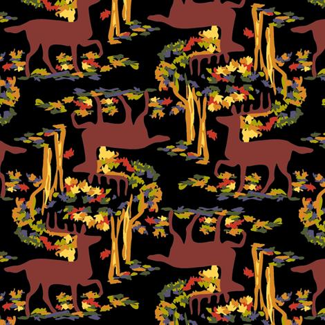 Autumn Deer, black