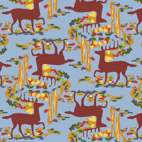 Autumn Deer, Blue