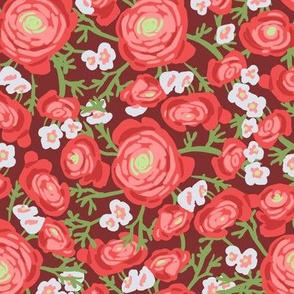 marsala floral