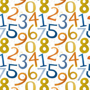 Happy Math Numerals Coordinate