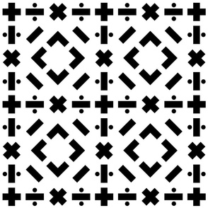 math symbols - solid black on white
