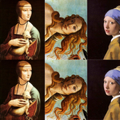 women in painting