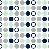 Polka Dots // Northern Lights - grey/mint/navy