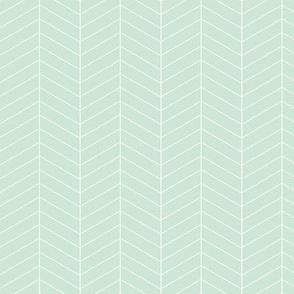 Herringbone // Mint