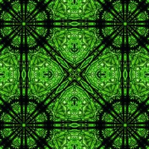 Stained Glass Tile Grid- Green