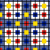 A plaid for men who like Mondrian