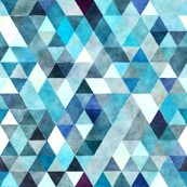 indigo watercolor triangles // small