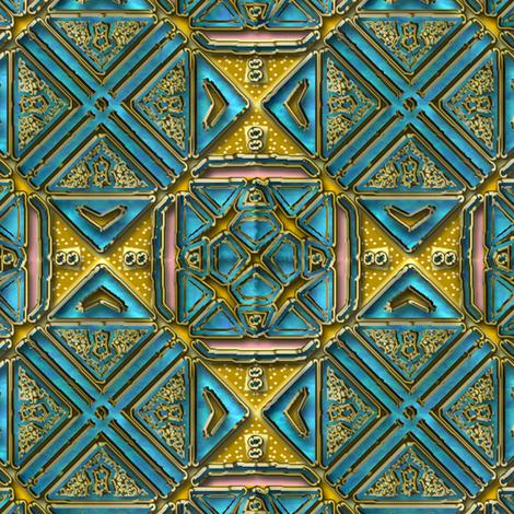 Blue and gold tile shimmer