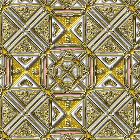 Gold and white tile shimmer