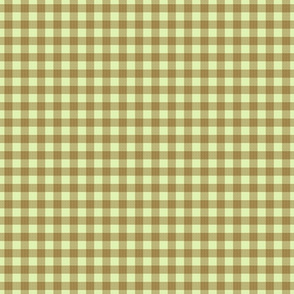 gingham mesh chocolate on mint