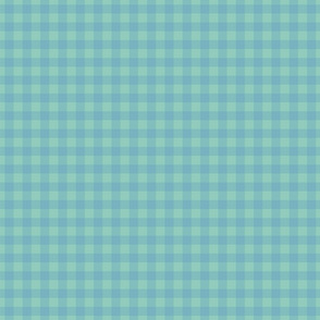 gingham mesh powder blue on mint