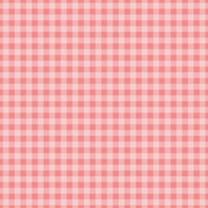 gingham mesh white on pink