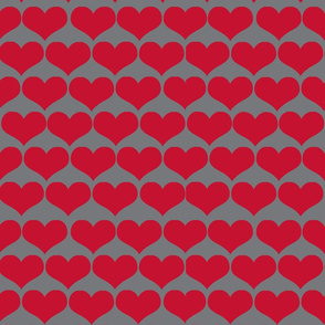 hearts red and gray
