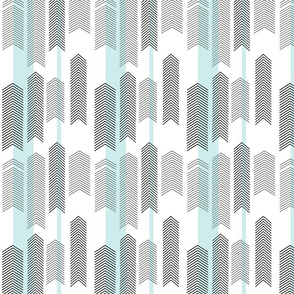 SMALLSCALE chevron stripe in mint