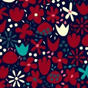 Red & Cream Flowers