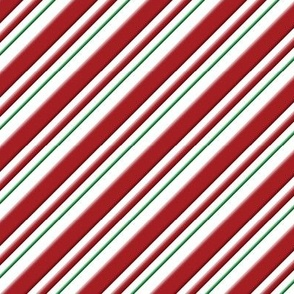 Candy Cane Stripe Green 3D