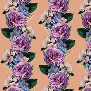 Modern Victorian flower stripes