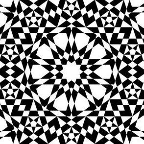decagon stars : white and black