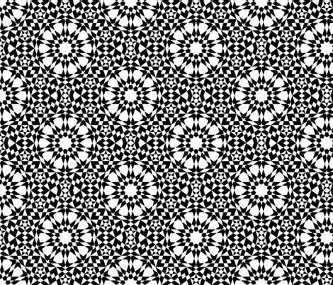 decagon stars - white and black