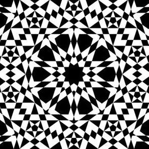 decagon stars : black and white
