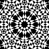 decagon stars - black and white