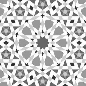 decagon stars : grey