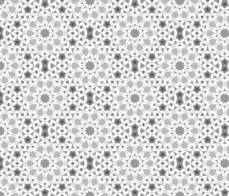 decagon stars : greyscale