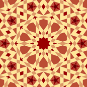 decagon stars - terracotta