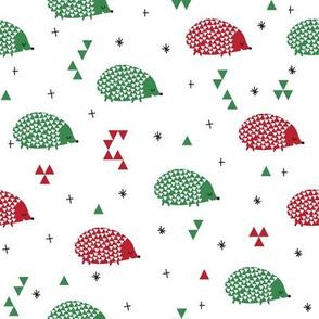 christmas hedgehogs